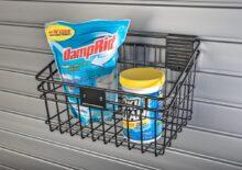 HandiWall Medium Basket in use on Slatwall Panels