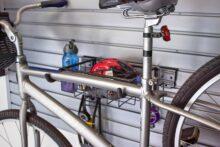 HandiWall Horizontal Bike Rack in use on Slatwall Panels