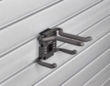 HandiWall Ski Hook with Lock on Slatwalll Panels