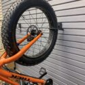Handiwall vertical Fat Tire Bike Hook in use